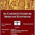 les cahiers integres de medecine égyptienne - ii (cime-ii)