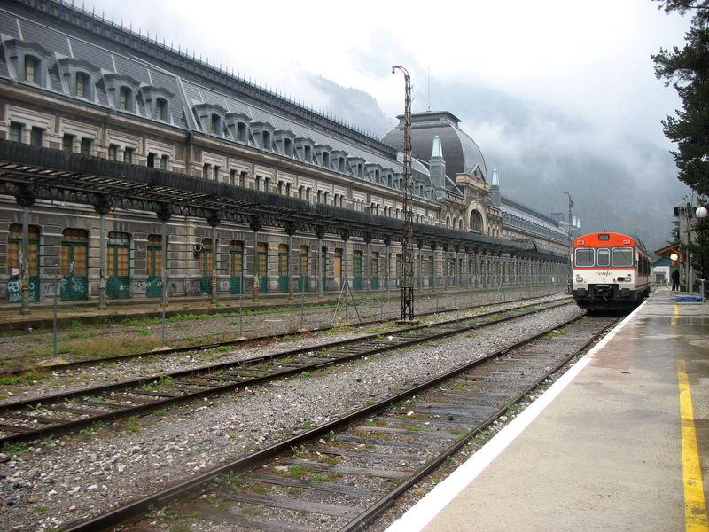 Canfranc, la gare (Espagne)
