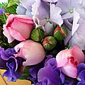 Bouquet hortensia et mures