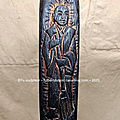 Fu sculptor aikido tanto sculpture art artist burned wood