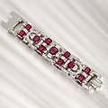 An art deco ruby and diamond bracelet, van cleef & arpels, circa 1940
