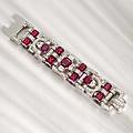 An art deco ruby and diamond bracelet, van cleef & arpels, circa 1940