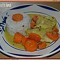 Curry de poisson et riz basmati