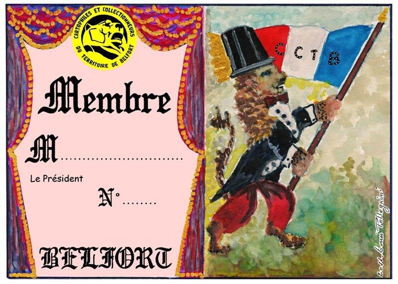 2012 Carte de Membre n°6 Recto R