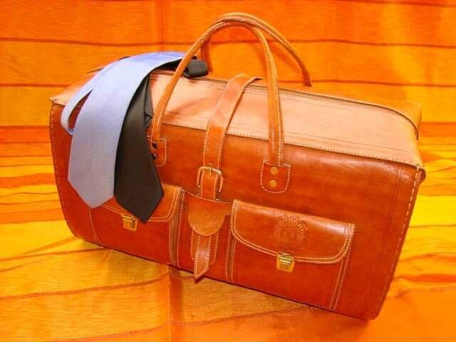 sac en cuir voyage