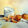 Aquarelles - Fruits et douceurs...