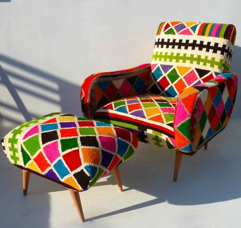 FAUTEUIL-TABARKA-ET-REPOSE-PIEDS-NEW-KILIM-VINTAGE-29-27-72 ROCK THE KASBAH