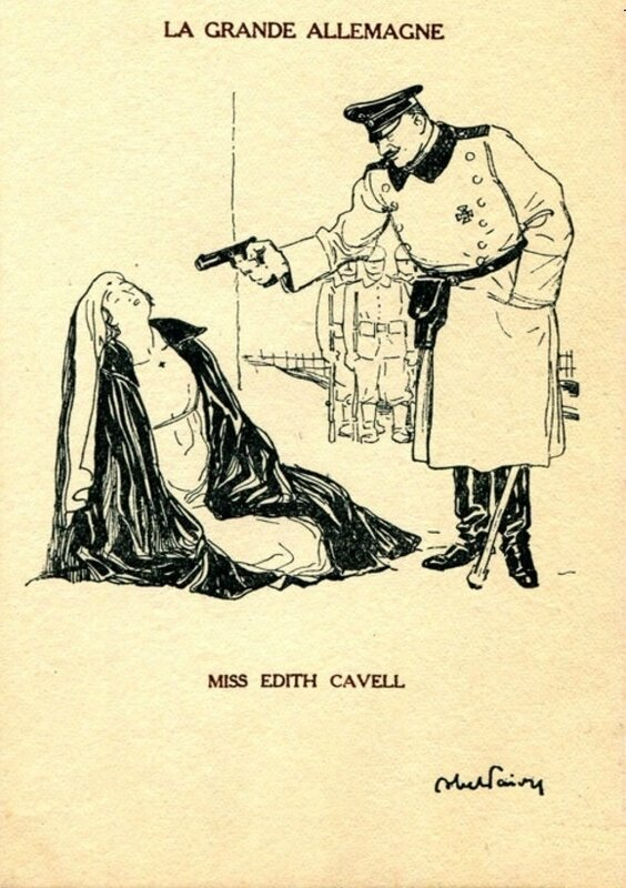 CPA Caricature Edith Cavell