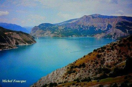 1) Tour du lac de Serre Ponçon à vélo