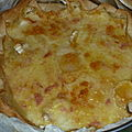 Quiche au <b>fromage</b>