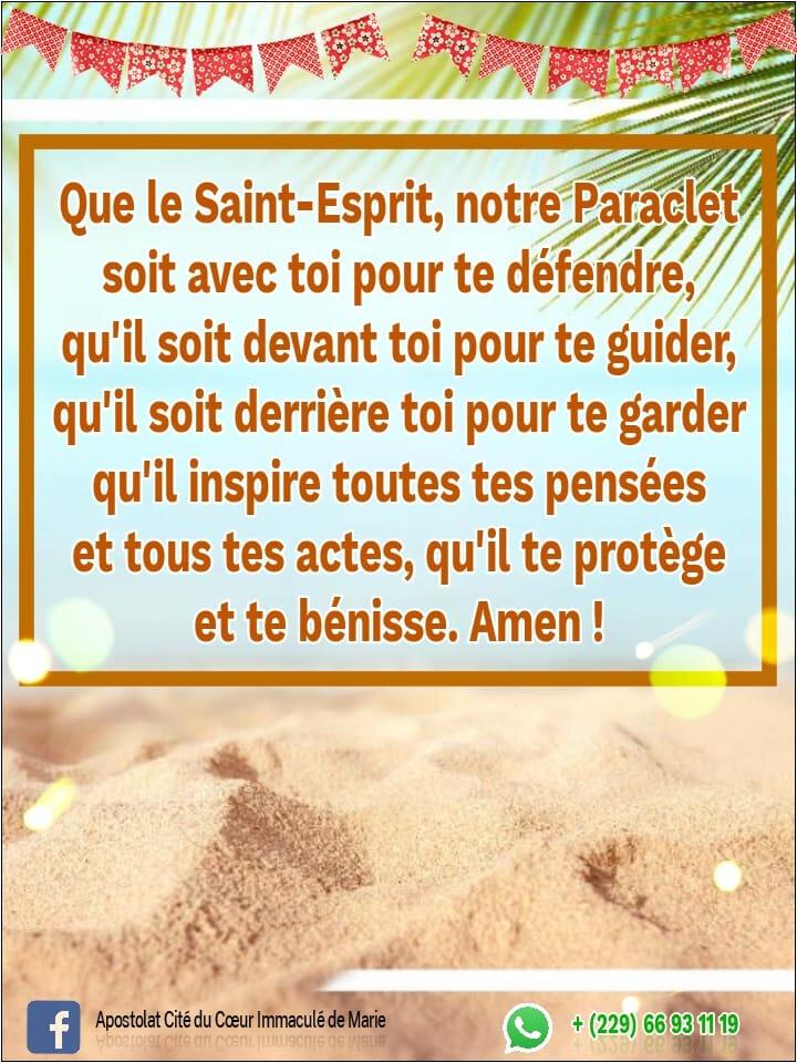 Merci Saint-Esprit.