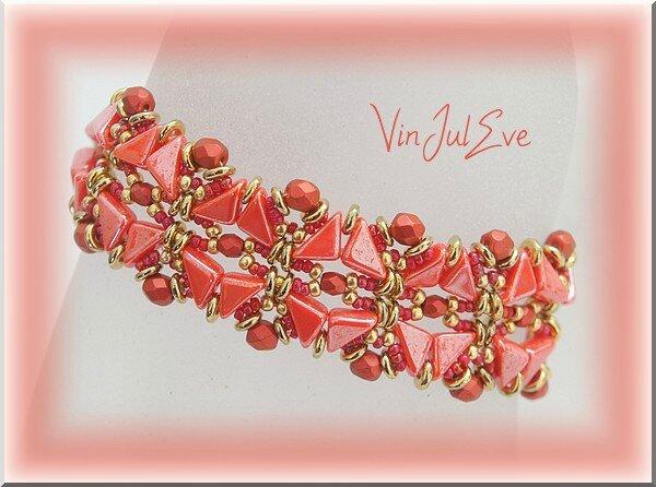 bracelet Elista rouge or
