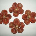 flowers 3D orange marron