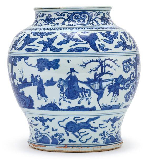 A blue and white jar, Ming dynasty, Jiajing period (1522-1566)