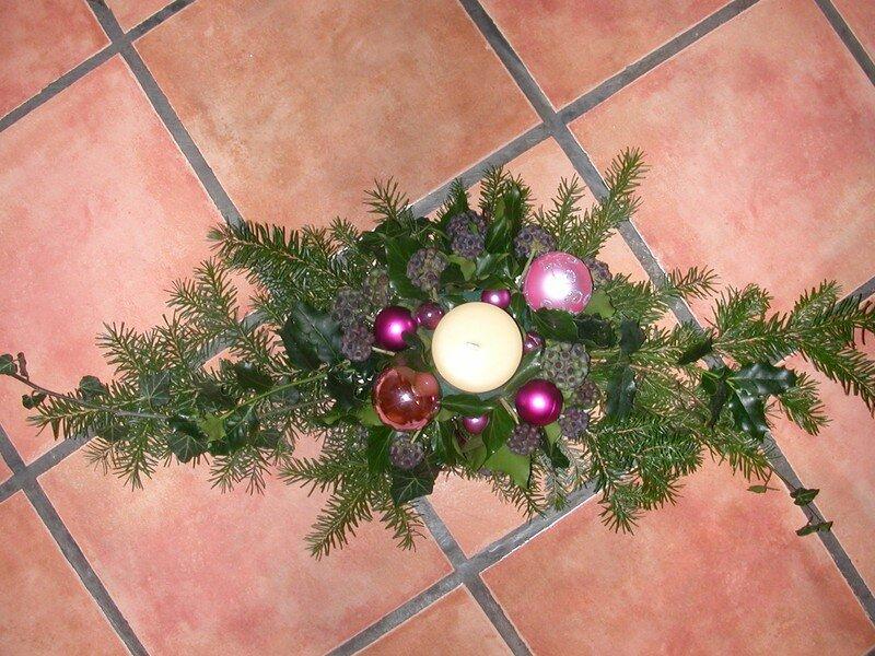 centre de table noel 2006 photo de fleurs et compositions f e avec amour. Black Bedroom Furniture Sets. Home Design Ideas
