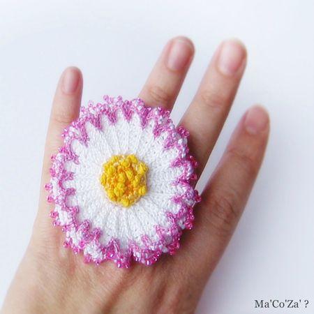 bague paquerette crochet 2