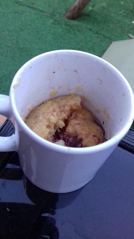 mug cake crumble banane nutella 23