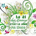 Le 21,c'est jour de fleurs chez greenye