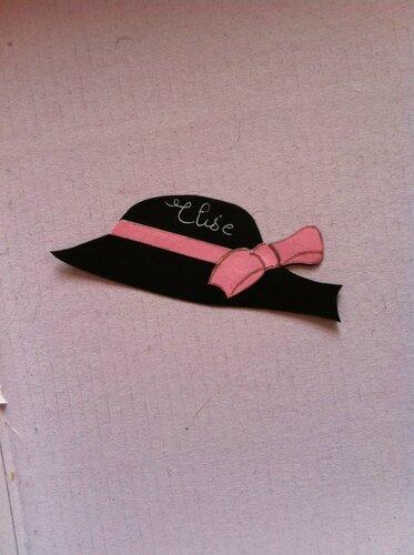 chapeau marque place ou déco table