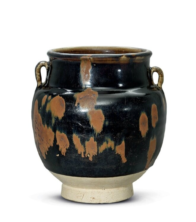 A Henan russet-splashed twinhandled jar, Northern Song-Jin dynasty, 12th century