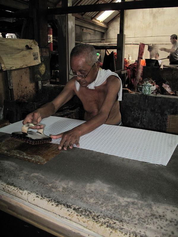 Production du Batik - 1 (Yogyakarta, Java)