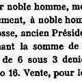 Montagu François sieur de la Brosse_vente rente foncière