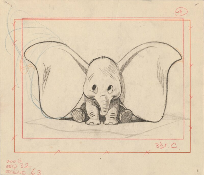 Bill_Peet_StorySketch_Dumbo_1941_©Disney