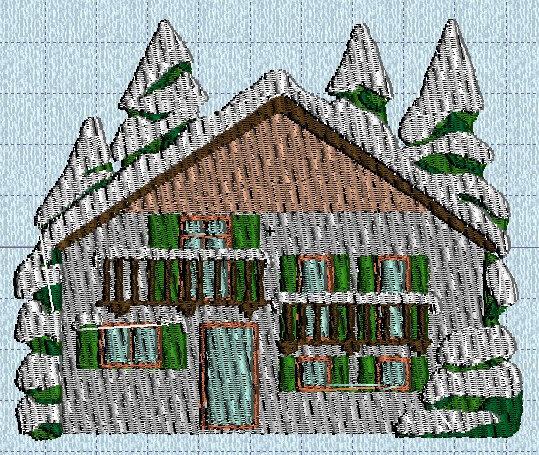 maison03 neige machine