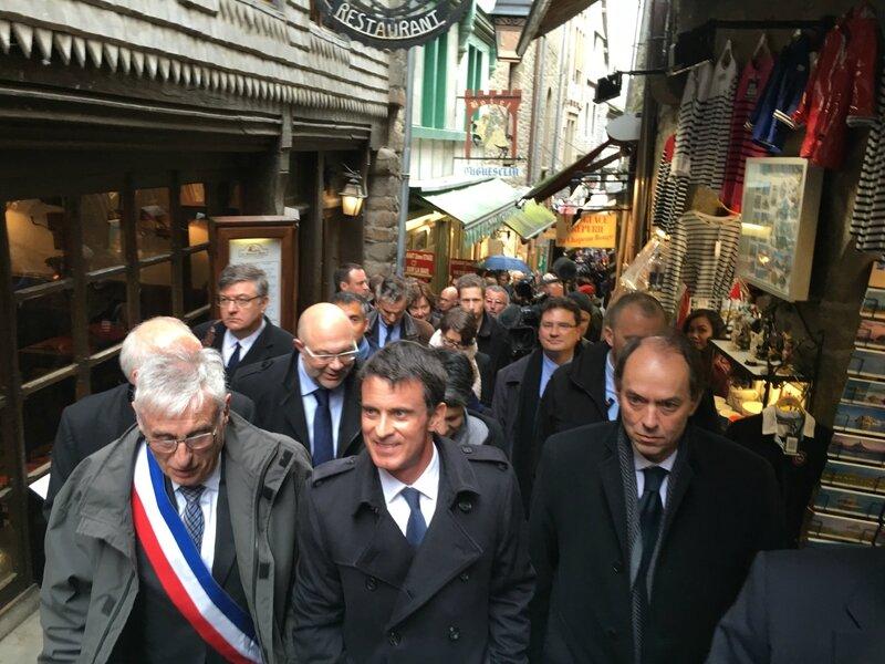 Manuel Valls Premier ministre Mont-Saint-Michel avril 2016 Guénhael Huet député CCAMSM