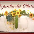 composition florale table d'honneur thème champêtre