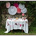 Sweet table princesse rose