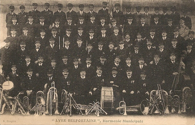 Belfort 1925 09 27 CPA Lyre Belfotaine Harmonie municipale