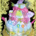 Gâteau de couches pour naissance Jade