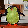 Pingouin, canard en feutrine
