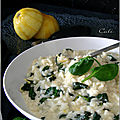 Risotto au citron, épinards & asiago