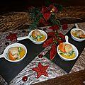 Cassolettes de st jacques sur lit de poireaux et sauce clémentine