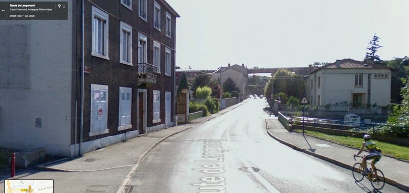 route de Langonand Google maps juillet 2008