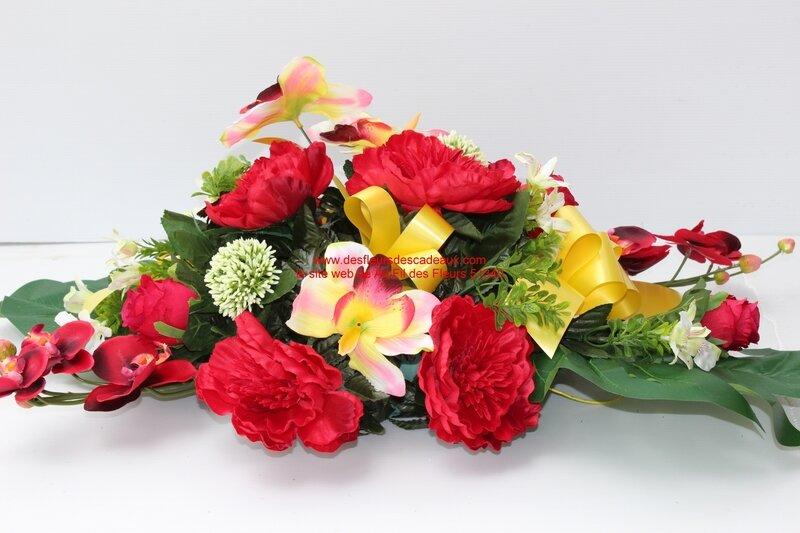 fleurs cimetière artificielles Toussaint (1)