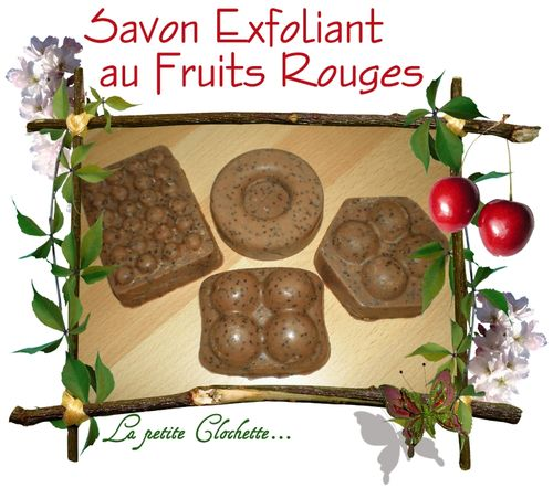 Savon exfoliant aux fruits rouges