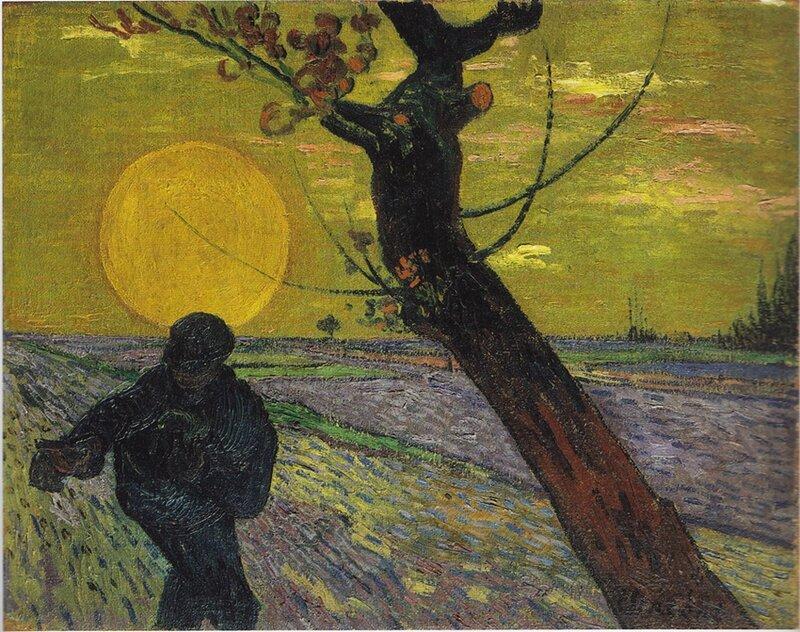 Le semeur au soleil couchant de Vincent Van Gogh