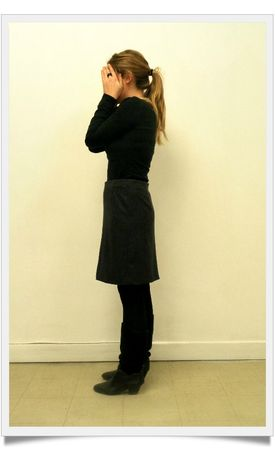 Jupe à plis creux profil-framed