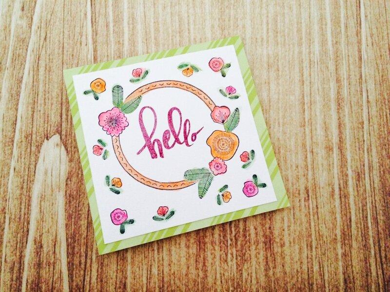Carte Hello verte