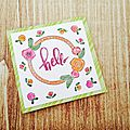 Hello card, un air de printemps