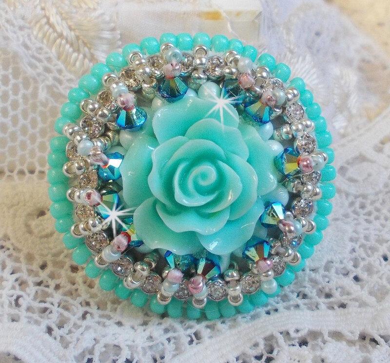 Bague Blue Flowers 16-1
