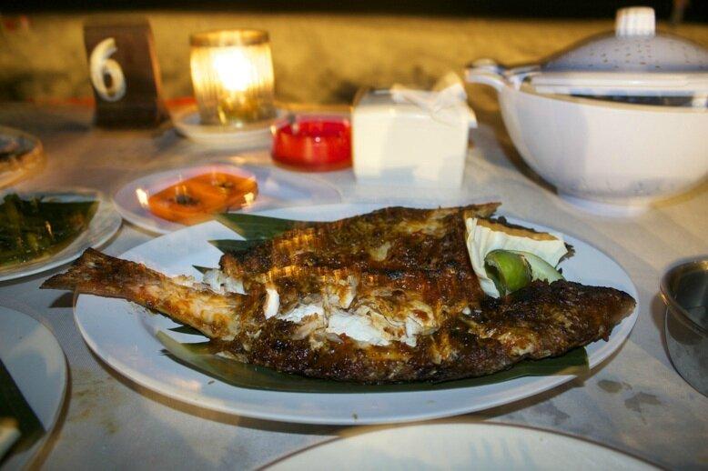 Diner à Jimbaran Bali