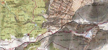 Carte IGN LaCroix Aurias Charnier