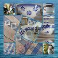 Mosaique brocante de bord de mer