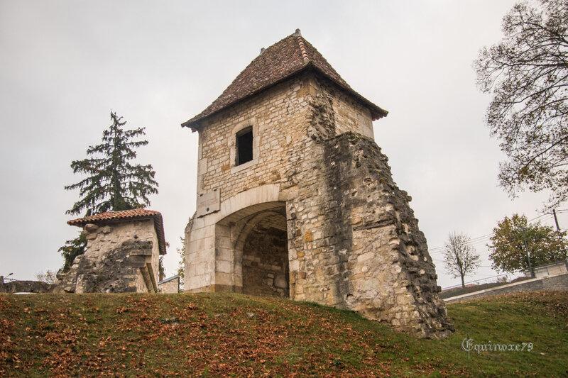 Les Ruines du CHATEAU DE VAUCOULEURS au pays de JEANNE D'ARC porte de France