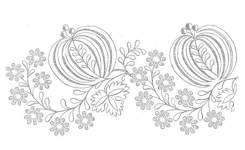 1828 Regency Needlework Pattern 7 July 1828