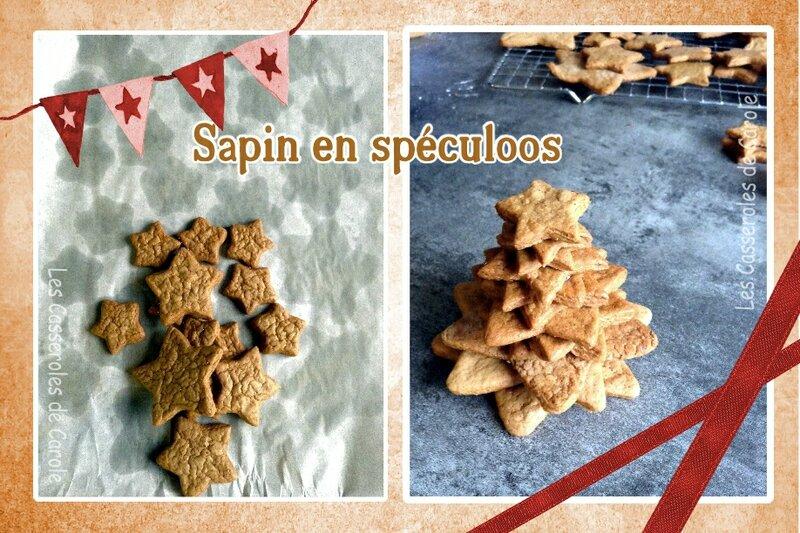 Sapin étoiles spéculoos (scrap 1)